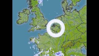 Strange circle in weather radar over europe, unusual or technical error ?