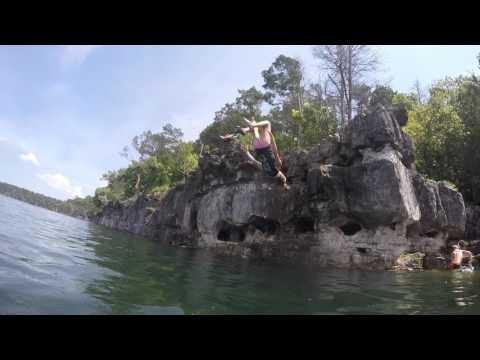 Cliff Jumping At Lake Norfork 2015
