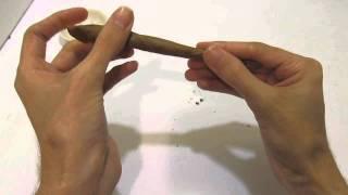 Rolling a Tobacco Leaf Blunt