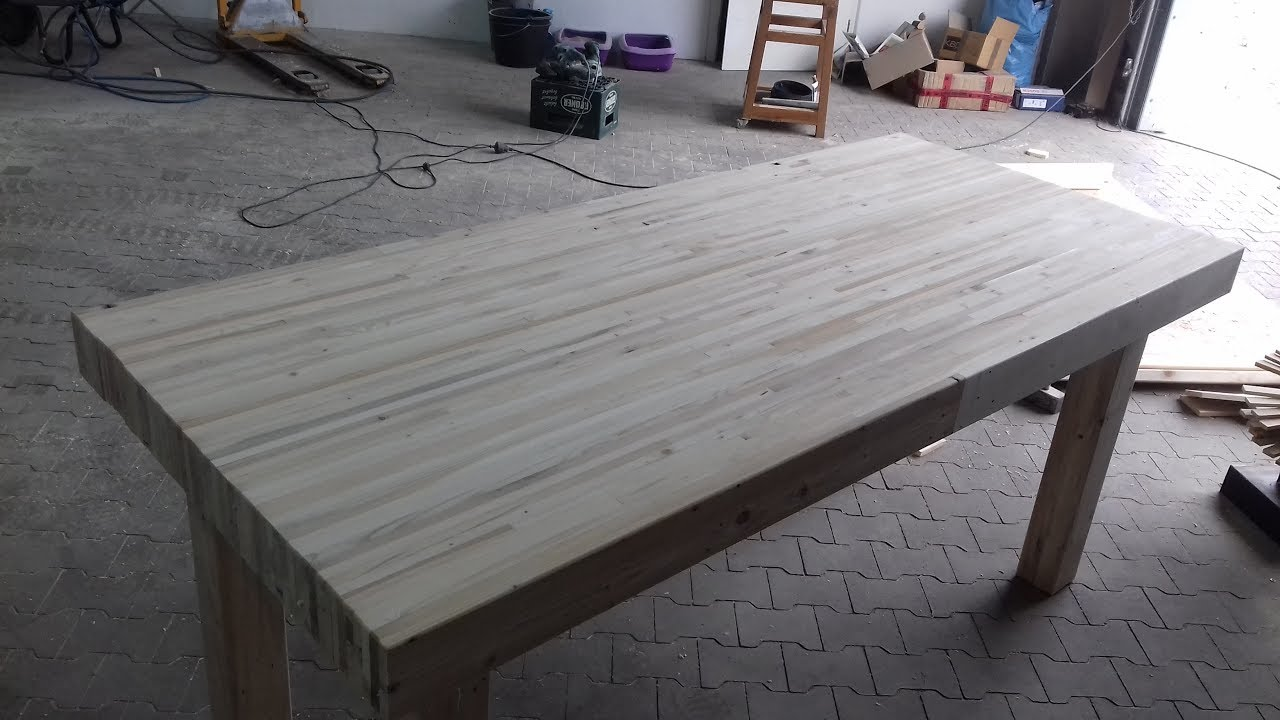 Werkbank aus europaletten working bench from reclaimed - Werkbank selber bauen youtube ...