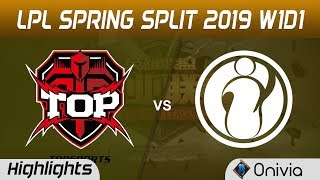 TOP vs IG Highlights Game 1 LPL Spring 2019 Topsports Gaming vs Invictus Gaming by Onivia