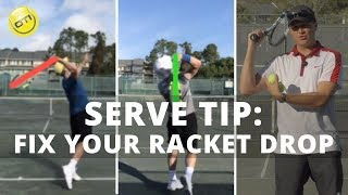Serve Tip: Fix Your Racket Drop For More Power