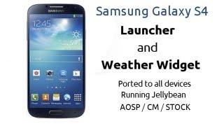 Instalar Launcher Galaxy S4 & Widget del Clima en Android