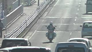 2014/11/22 柏警察署から出て来た白バイ HONDA VFR800P