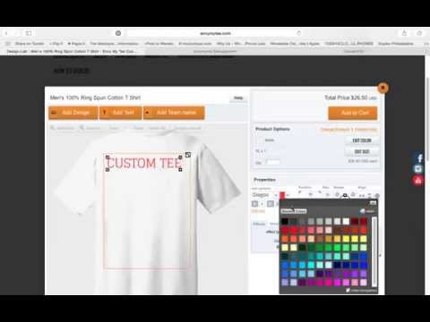 How T Make A Custom T-shirt Online