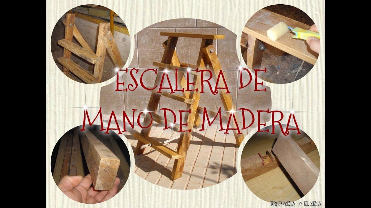 C mo hacer una escalera de mano con las maderas de un pal for Como hacer escalones