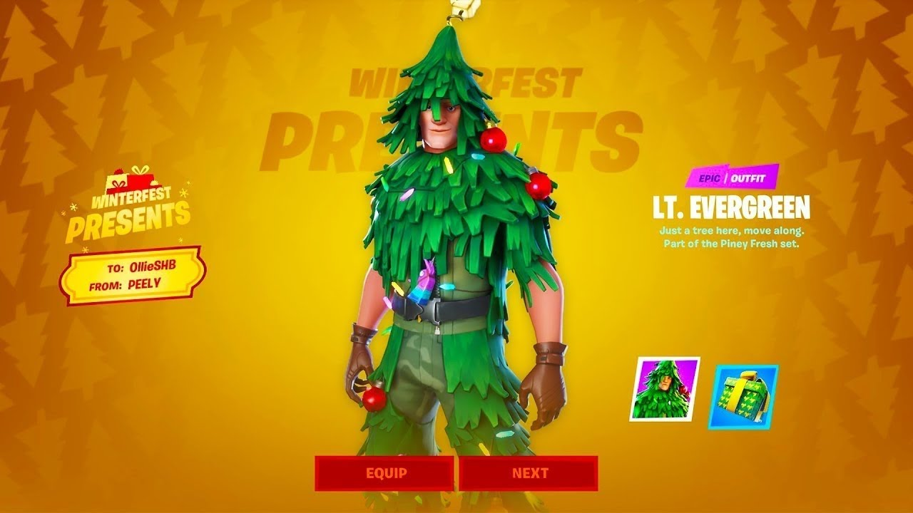 How to get the Christmas tree skin on fortnite mobile - YouTube
