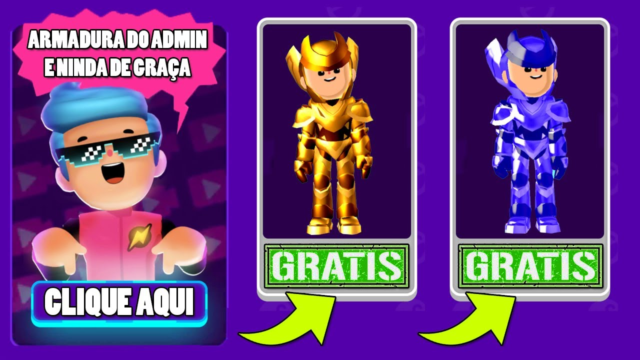 Download COMO CONSEGUIR AS ARMADURAS DO ADMIN E NIMDA DE GRAÇA NO PK XD !