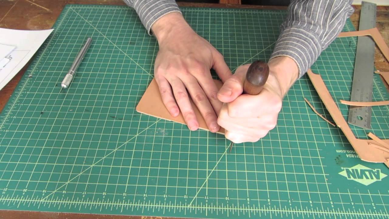 Tutorial: Making a Simple Leather Card Holder - YouTube