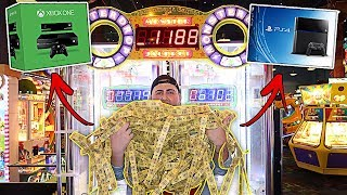 WON THE BIGGEST ARCADE MEGA JACKPOT!!! (CRAZY MEGA WIN)