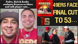 NFL 49ers Head Coach Jim Tomsula And Coaches Will Decide Who Stays! 2015 PreSeason Week 3 vs Broncos