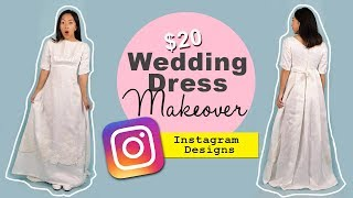 $20 WEDDING DRESS MAKEOVER | Thrifted Transformations