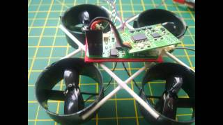 Micro Ducted Fan EDF Quadcopter Build 35 Grams With Lipo