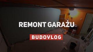 """Remont """"orangowego"""" garażu - płyty gipsowe, wylewka, nowe oświetlenie"""