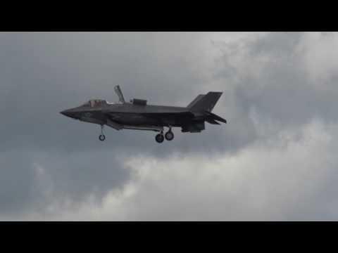 F-35b at Farnborough air show 2016 - 4K