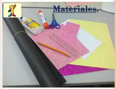 tutorial: como crear una carpeta de cartulina. - YouTube