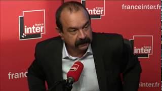 Philippe Martinez au micro de Nicolas Demorand
