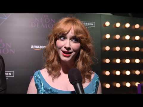 """The Neon Demon: Christina Hendricks """"Jan"""" Movie Premiere Interview"""