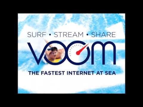 Royal Caribbean CEO Michael Bayley announcing Voom on all ships