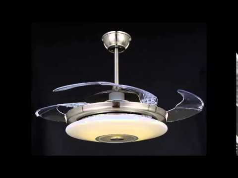 CEILING FAN WITH LED LIGHT AND REMOTE ARCHITECTURAL DESIGNER FAN ...