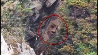 Khuôn mặt khổng lồ xuất hiện ở vách núi, cả làng xôn xao đến tận nơi chứng kiến vẫn không tin nổi