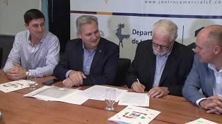 La provincia suscribió un convenio para dotar de luces led a Centros Comerciales a Cielo Abierto