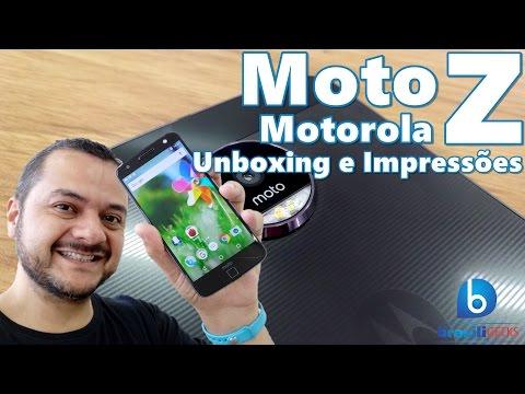 Moto Z - O Melhor Unboxing de Todos (E com Impressões também)! Em Português