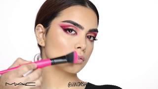 م∙أ∙ج مستحضرات التجميل: إنشاء العنبر الوردي نظرة العين مع Hindash!