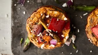 Roasted Vegetable Breakfast Muffins