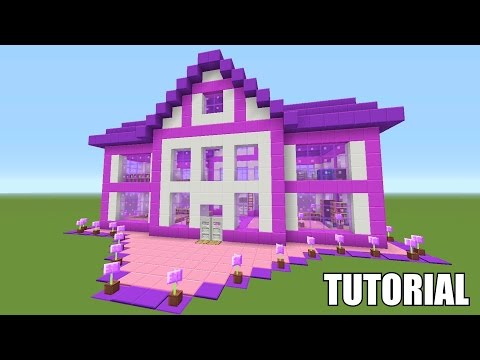 Minecraft Tutorial: How To Make A Barbie Dream House!! Survival House (ASH#39)