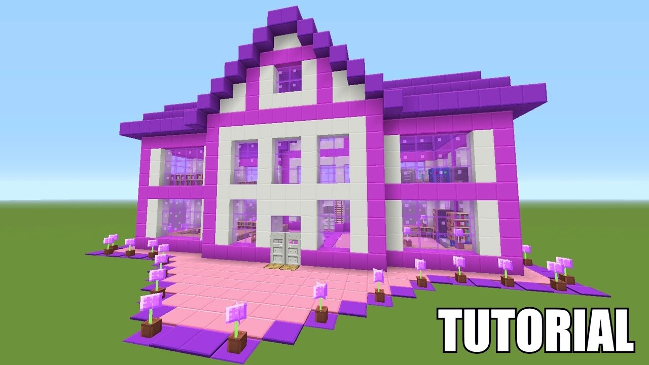 Minecraft tutorial how to make a barbie dream house How to make your dream house