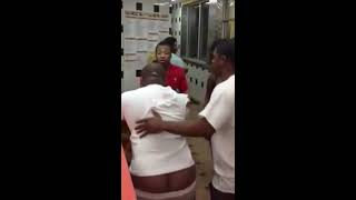 Fight breaks out at coney island in detroit.