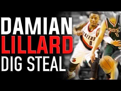 Damian Lillard Dig Steal Technique: Basketball Moves