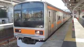 中央線209系1000番台トタ82編成「回送」豊田駅発車!