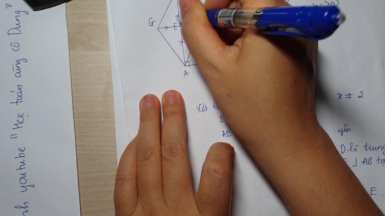 Đề thi toán 8 học kì 1 năm học 2019( phần 2)