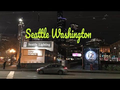 Одна ночь в Сиэтле штат Вашингтон США