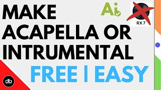 HOW TO MAKE ACAPELLA & INSTRUMENTAL OF ANY SONG | HOW TO REMOVE VOCALS FROM ANY SONG FOR FREE | EASY