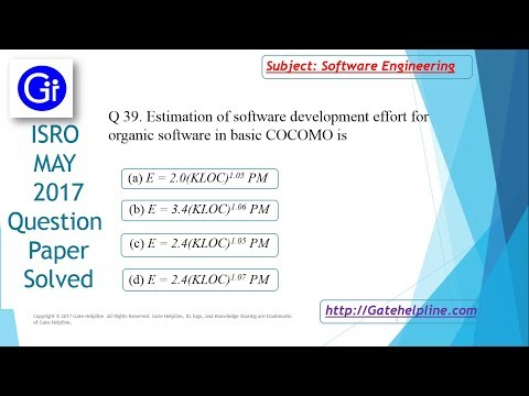 Q 39. Estimation of software development effort for organic software in basic COCOMO is