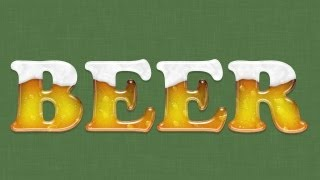 Beer Text Effect in Photoshop | IceflowStudios