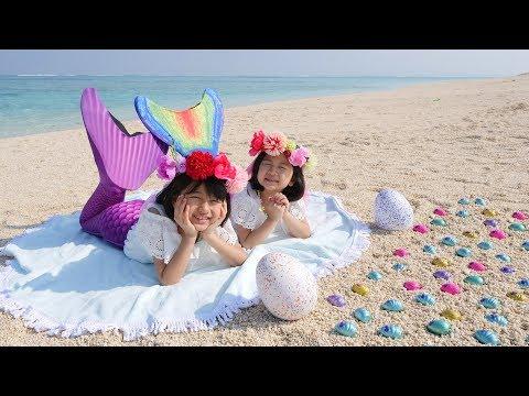 キレイな貝を見つけたら人魚になっちゃった♡新しいウーモミニとウーモベイビー♢himawari-CH