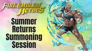 Fire Emblem Heroes: Summer Returns Summoning Session
