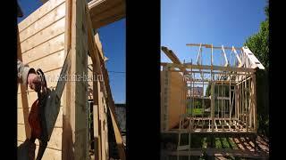 Видео СК ДОМА БАНИ Сруб бани и сарай - строительство