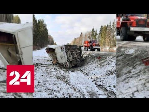 Вылетевшую в окно пассажирку насмерть придавило автобусом под Архангельском - Россия 24