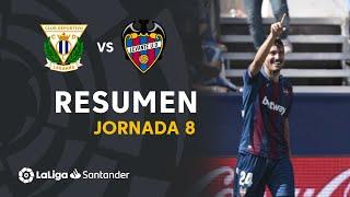 Resumen de CD Leganés vs Levante UD (1-2)
