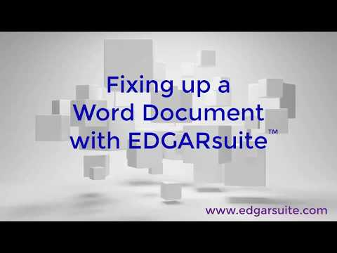 Preparing a professional-looking SEC EDGAR filing using EDGARsuite™
