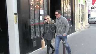 EXCLUSIVE - Reese Witherspoon and her husband Jim Toth shopping at APC store in Paris