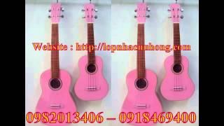bán đàn ukulele màu hồng , dan ukulele mau hong , bán đàn ukulele mau hong tai go vap