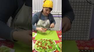 Wellness кухня. Салат с креветками.