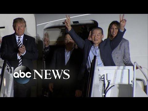 3 Americans held by North Korea back in US