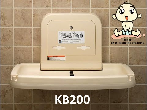 Koala Kare Horizontal Wall Mounted Baby Changing Station KB200 Products Video